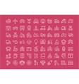set flat line icons transport vector image