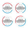 set four luxembourgish icons made in luxembourg vector image vector image