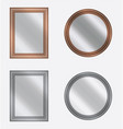set of frames with mirrors on white background vector image vector image