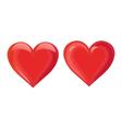 Shiny Hearts vector image