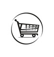 shooping cart icon vector image vector image