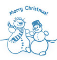 simple christmas with two vector image
