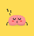 sleepy brain character vector image