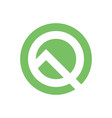 stylized letter q company logo letter q in vector image vector image