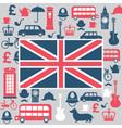 symbols great britain vector image