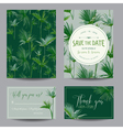 Tropical Palms Leaves Wedding Invitation Card vector image vector image