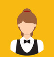 waitress characte icon great of character use vector image vector image