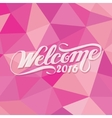 welcome 2016 polygon happy new year pink girly vector image vector image