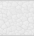 white cracked background vector image vector image