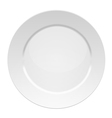 White dinner plate vector image