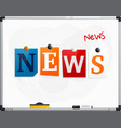 word news made from newspaper letters vector image