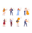 young people play musical instruments vector image