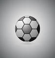 Ball float on gray background vector image