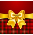 Festive background with ribbon bow vector image
