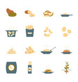 cartoon color potato icons set vector image