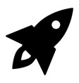 rocket icon business startup symbol pictogram vector image