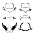 Set of decorative frames with ribbon emblems vector image