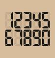 digital glowing numbers electronic figures vector image