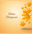 abstract autumn realistic template vector image vector image