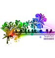 abstract with birds vector image vector image