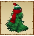 Animal ninja disguised in a Christmas costume vector image vector image