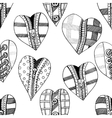 Background hand drawn hearts vector image
