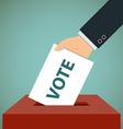 ballot paper Stock vector image