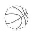 basketball ball silhouette for your business vector image vector image