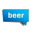 beer blue 3d speech bubble vector image vector image
