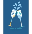 blue and yellow flowersilhouettes toasting vector image vector image