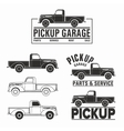car 4x4 pickup truck off-road logo elements vector image