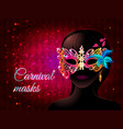 cartoon masquerade party template vector image