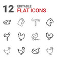 cock icons vector image vector image