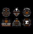 coffee vintage badge and logo good for your brand vector image vector image