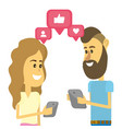 Couple on social networks