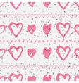 Doodle seamless pattern with hearts vector image vector image