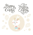 easter collection with bunny vector image vector image