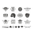 emblems and badges set baseball team vector image