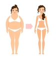 Fat lady and slim diet woman vector image vector image
