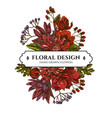 floral bouquet design with colored viburnum vector image