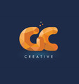 gc letter with origami triangles logo creative vector image vector image