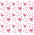 geometric pattern with japanese origami flamingo vector image
