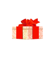 gift box over white background vector image vector image