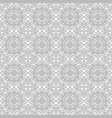 gray ornate pattern seamless vector image vector image