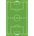 Green football field vector image
