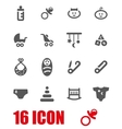 grey baby icon set vector image vector image