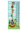 growth measure with pirates animals on ship vector image vector image