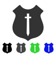 guard shield flat icon vector image vector image