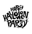 happy halloween party lettering concept logo vector image vector image