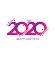 happy new year 2020 template design for vector image vector image